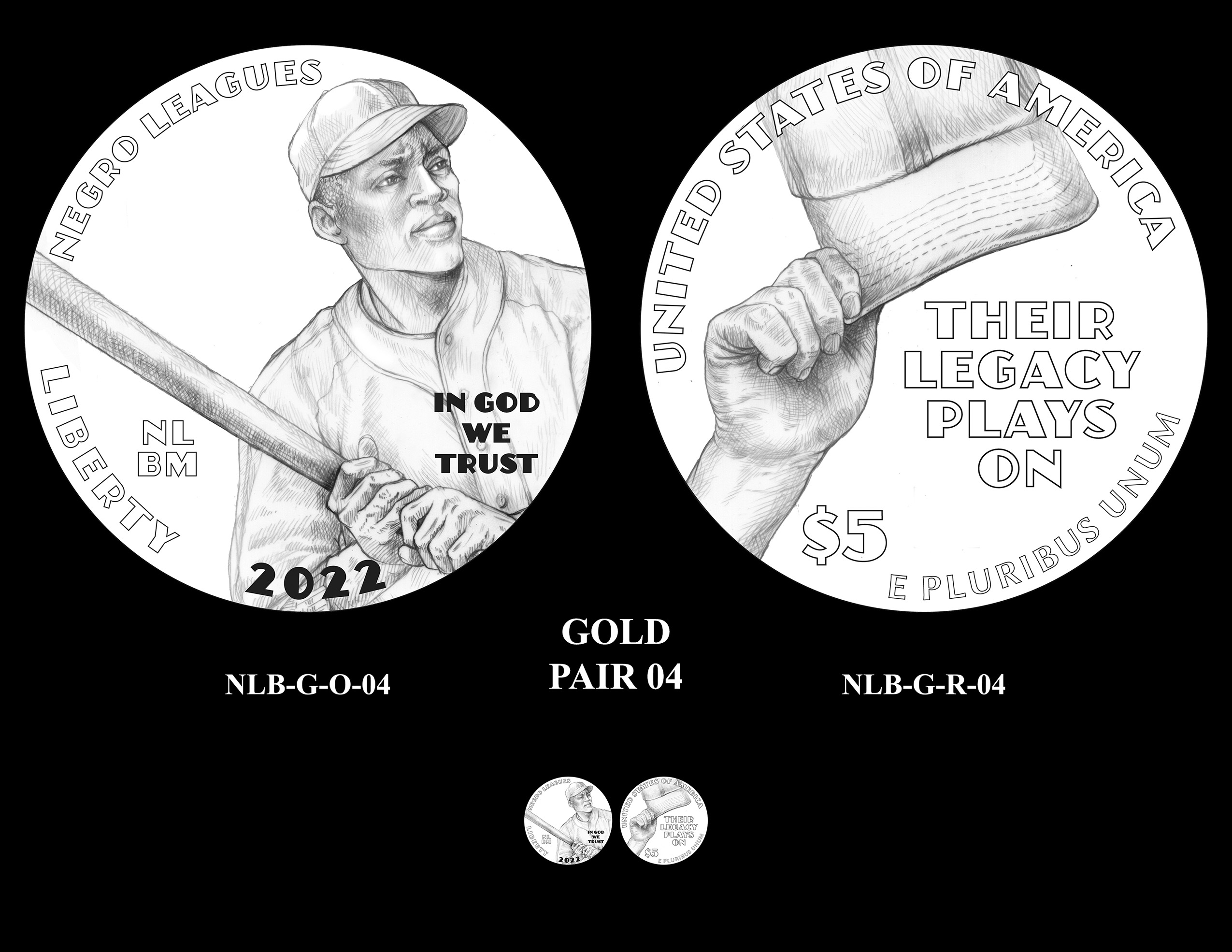 Gold Pair 04 -- Negro Leagues Baseball Commemorative Coin Program
