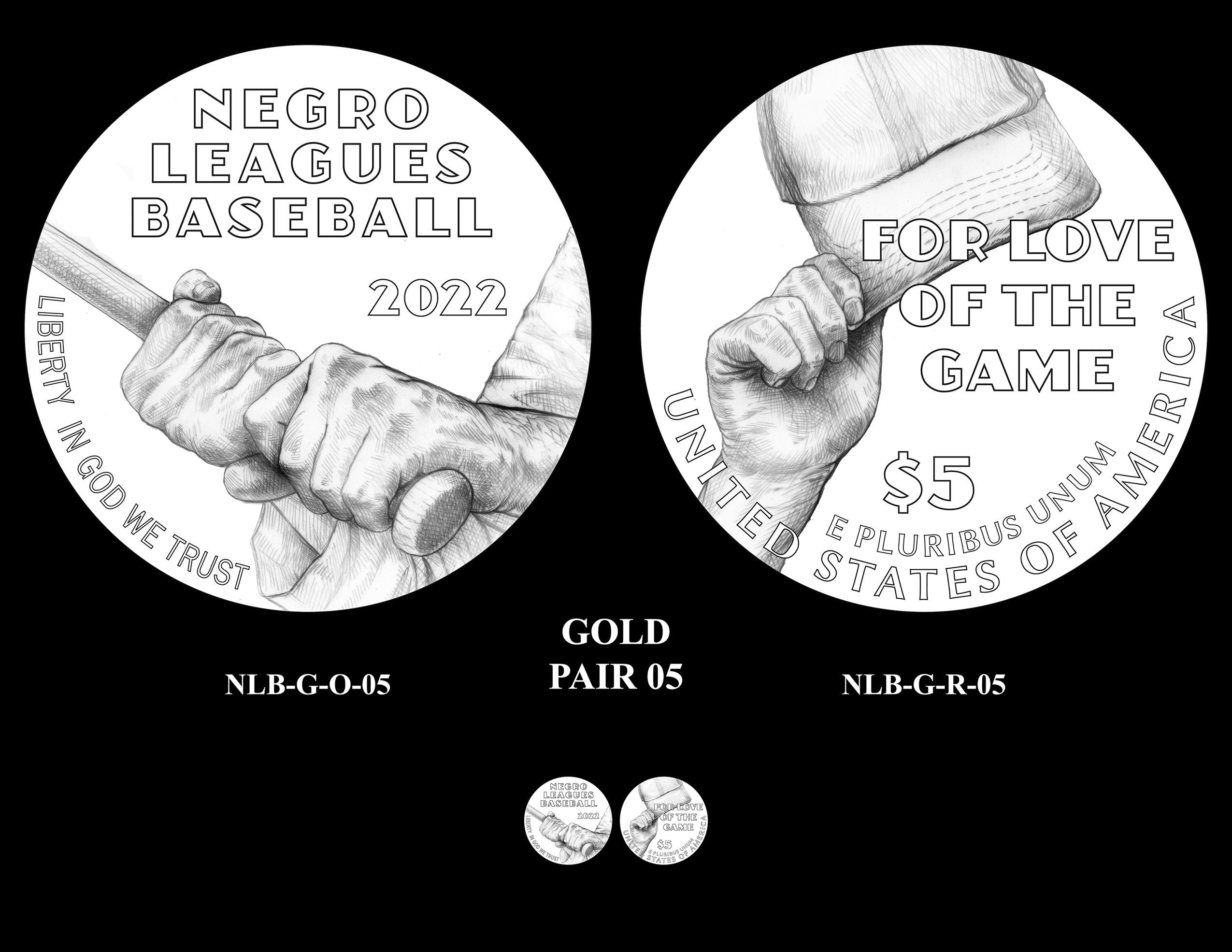 Gold Pair 05 -- Negro Leagues Baseball Commemorative Coin Program