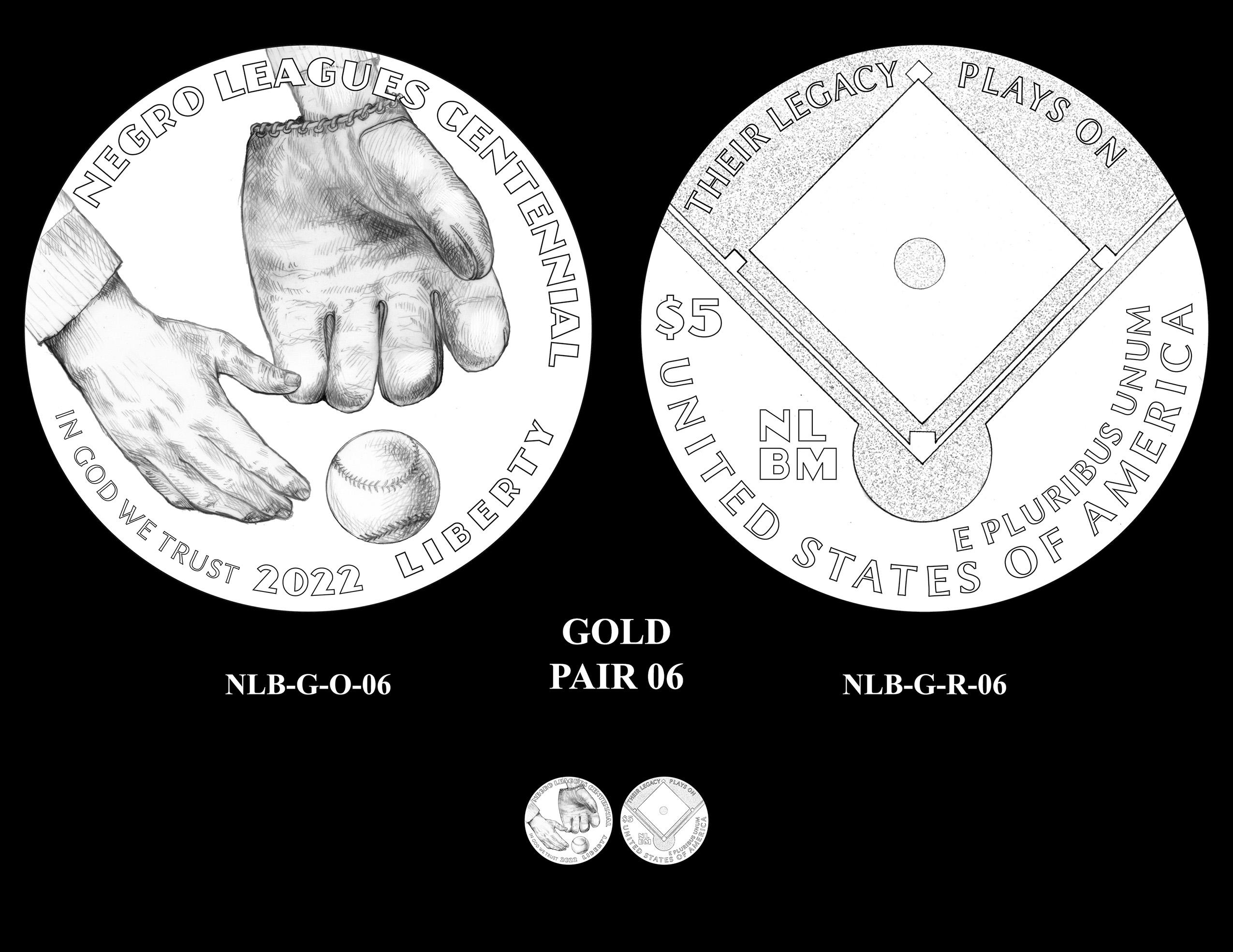 Gold Pair 06 -- Negro Leagues Baseball Commemorative Coin Program