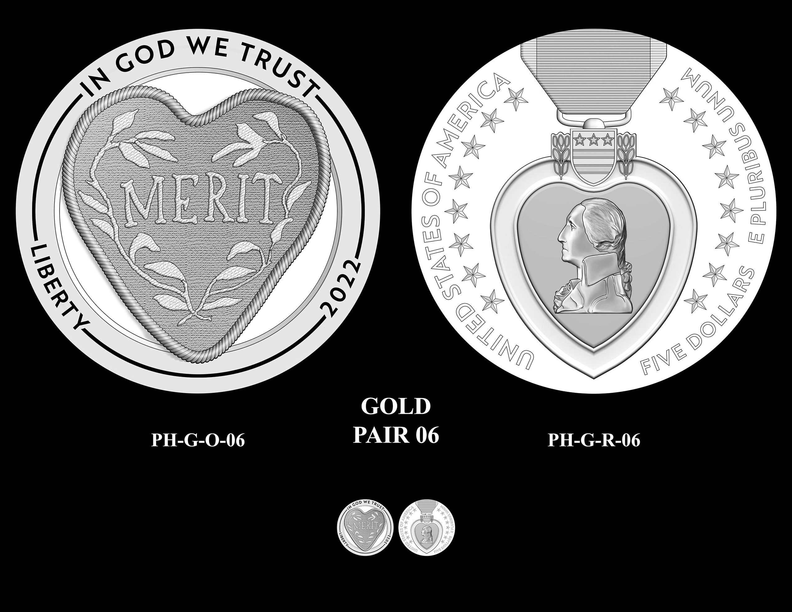 Gold Pair 06 -- National Purple Heart Hall of Honor Commemorative Coin Program