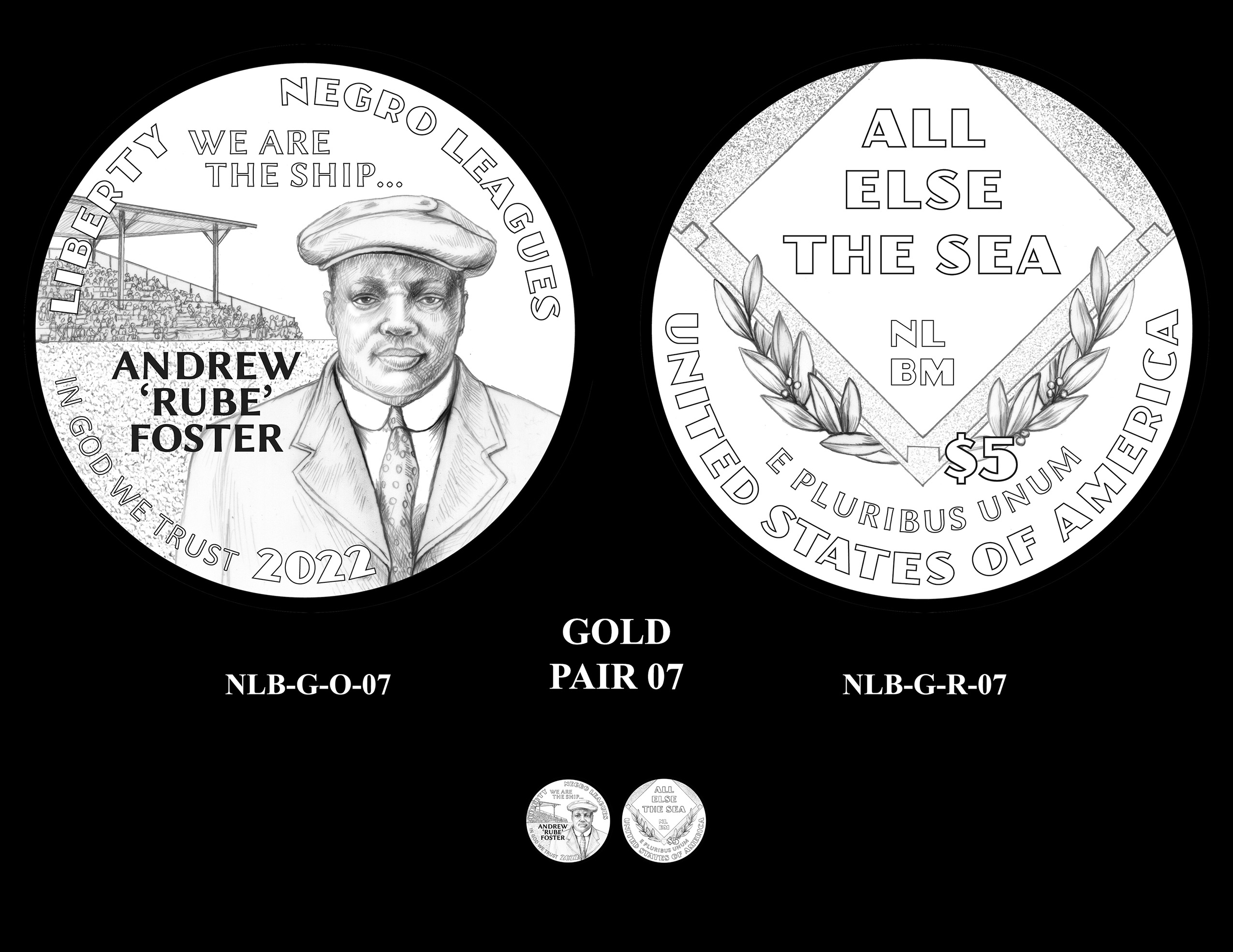 Gold Pair 07 -- Negro Leagues Baseball Commemorative Coin Program