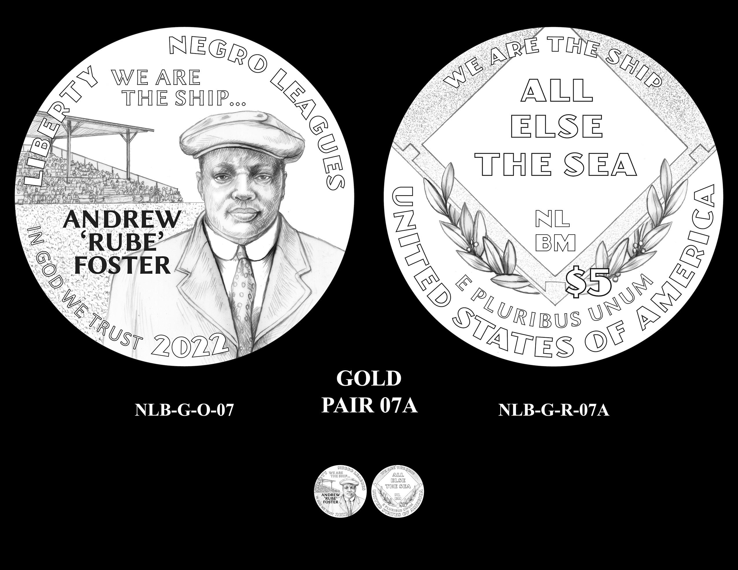Gold Pair 7A -- Negro Leagues Baseball Commemorative Coin Program