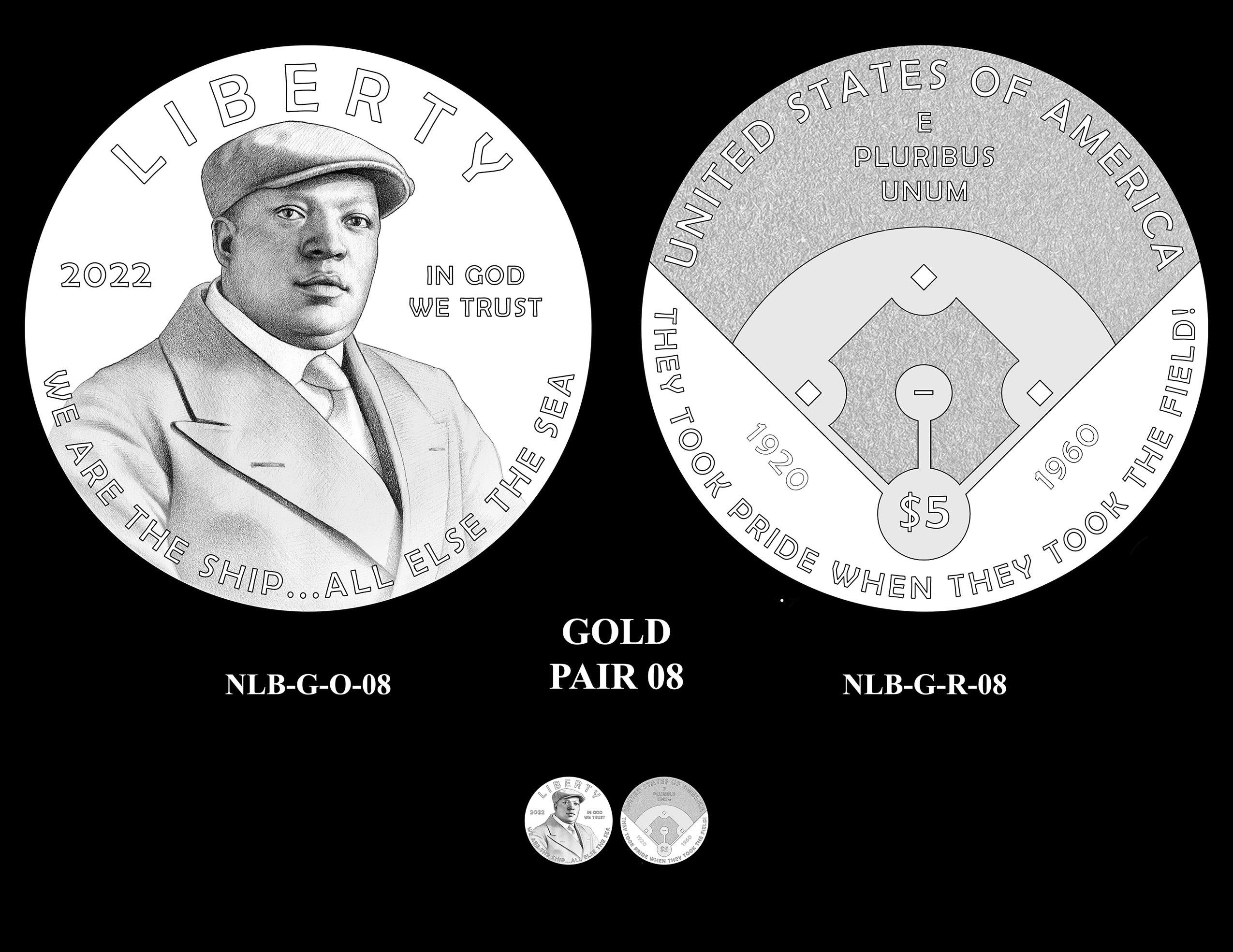 Gold Pair 08 -- Negro Leagues Baseball Commemorative Coin Program