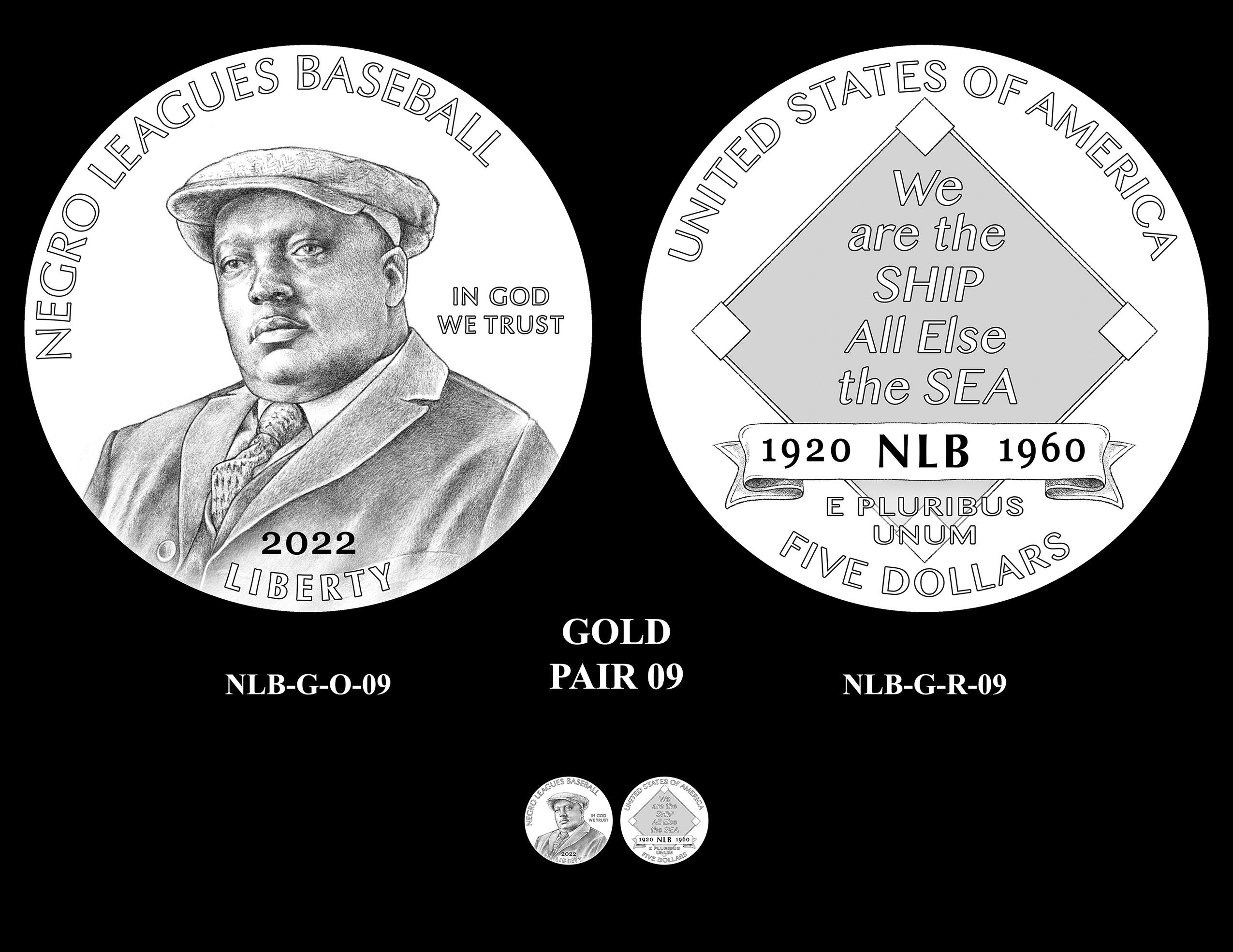 Gold Pair 09 -- Negro Leagues Baseball Commemorative Coin Program
