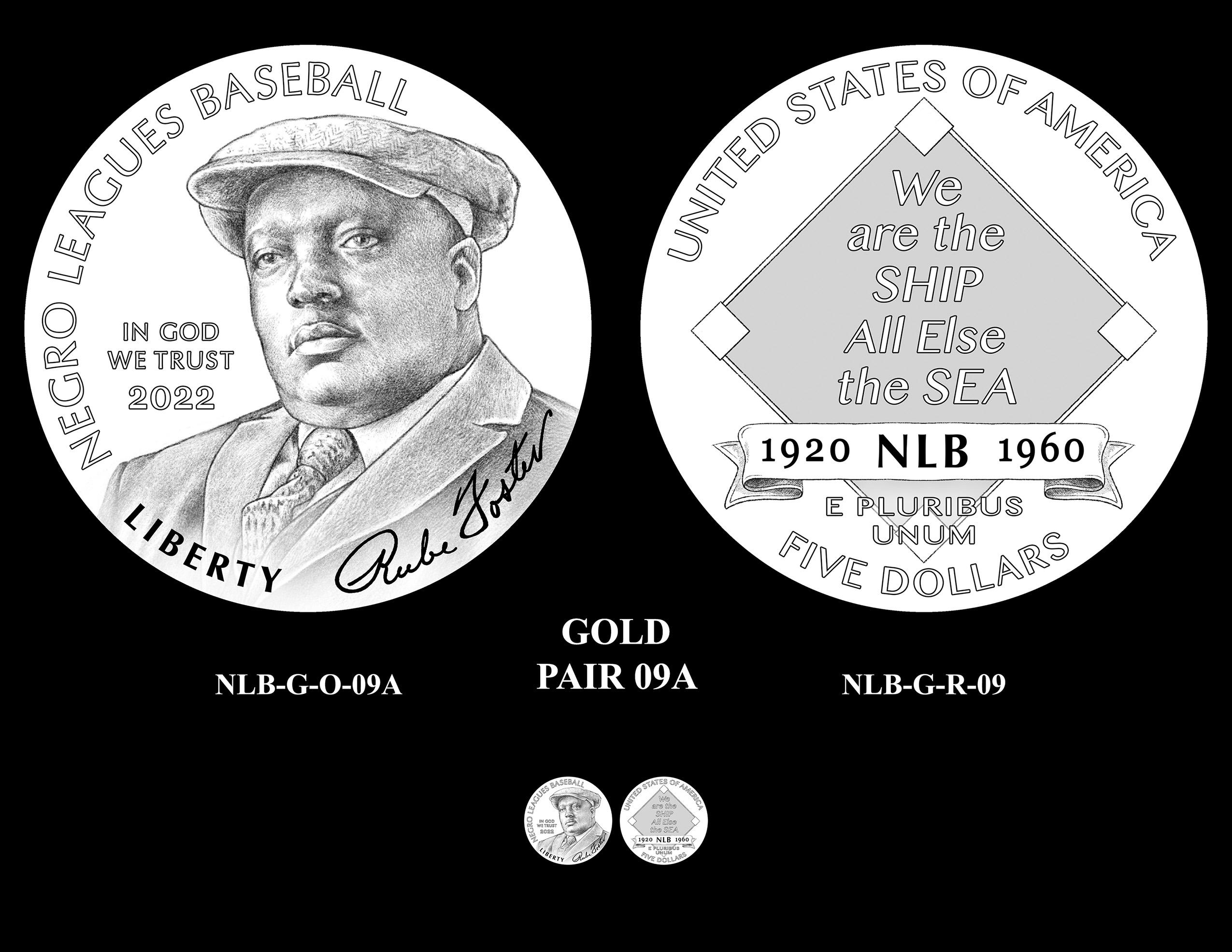 Gold Pair 9A -- Negro Leagues Baseball Commemorative Coin Program