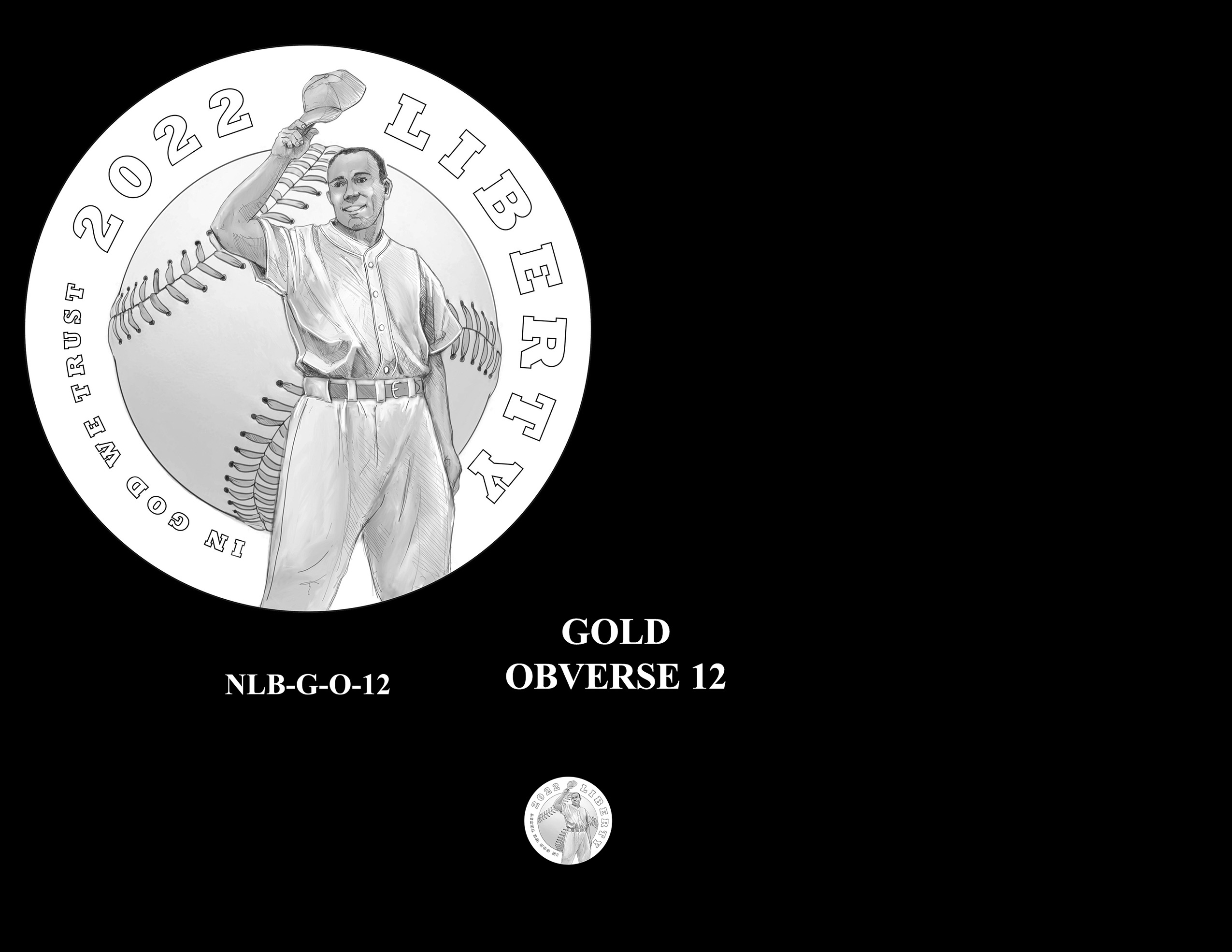 Gold Pair 12 -- Negro Leagues Baseball Commemorative Coin Program