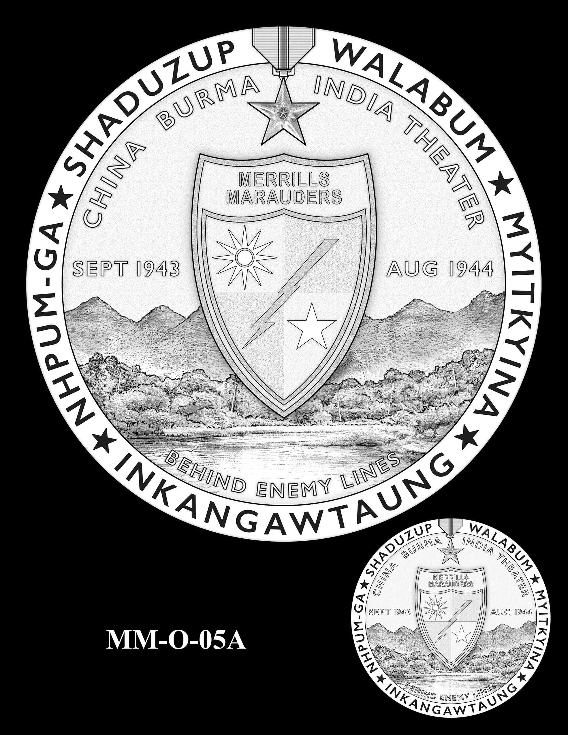 MM-O-05A -- Merrill's Marauders Congressional Gold Medal