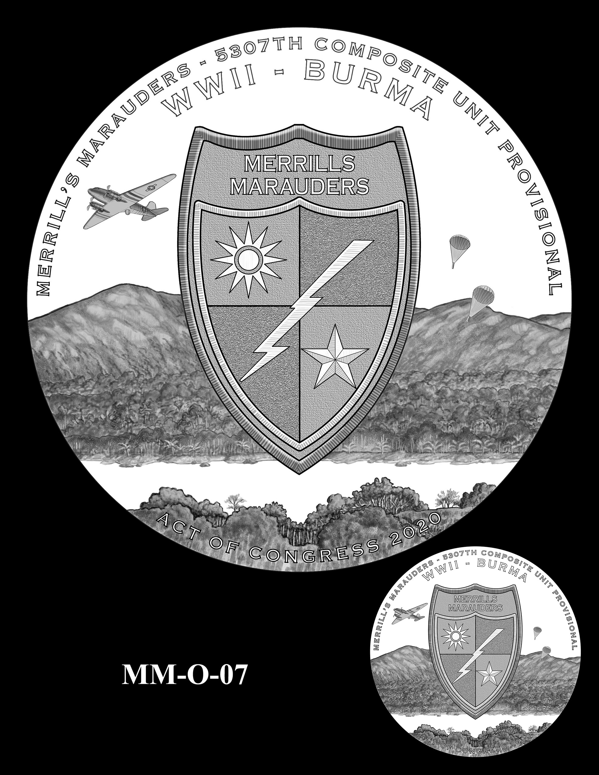MM-O-07 -- Merrill's Marauders Congressional Gold Medal