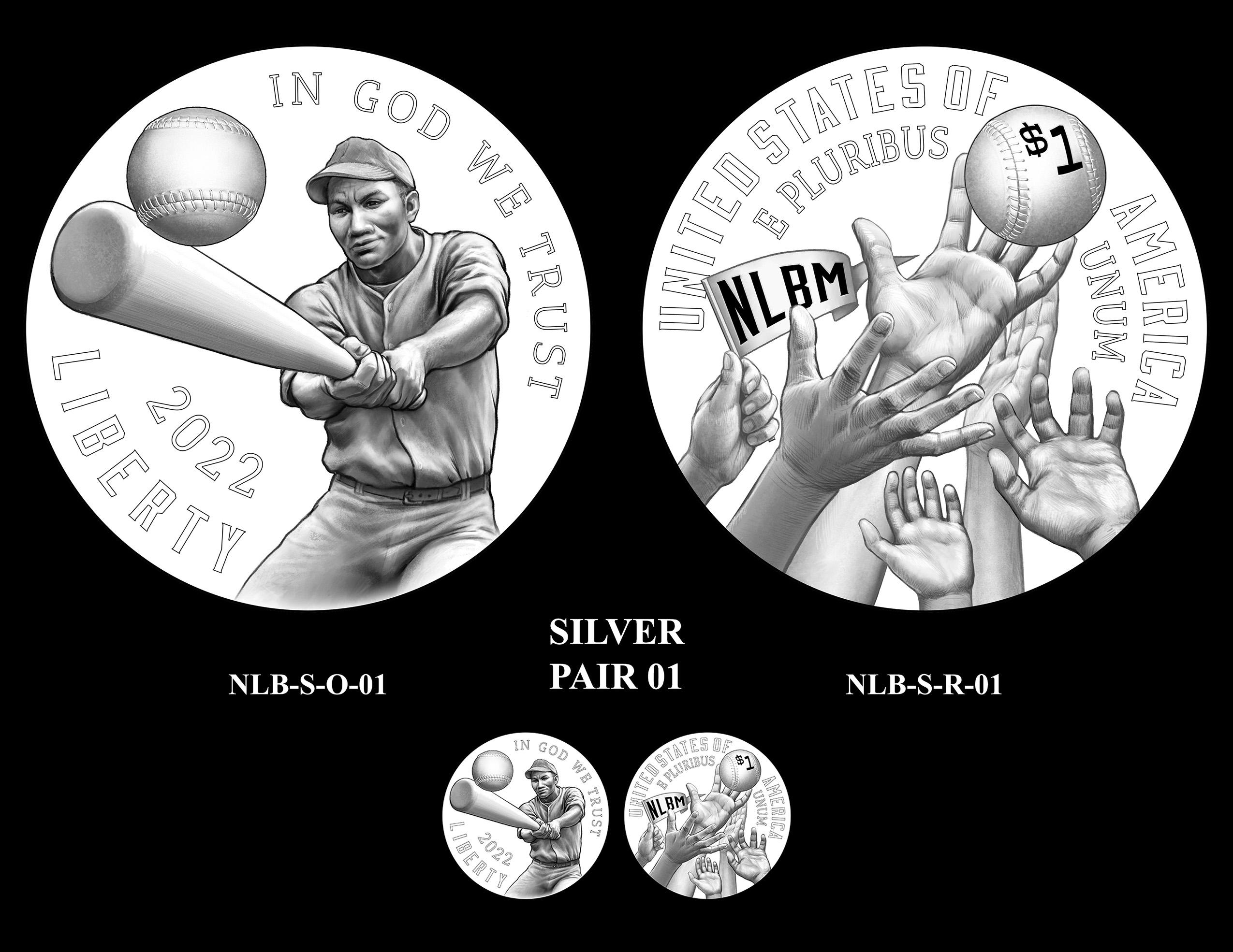 Silver Pair 01 -- Negro Leagues Baseball Commemorative Coin Program