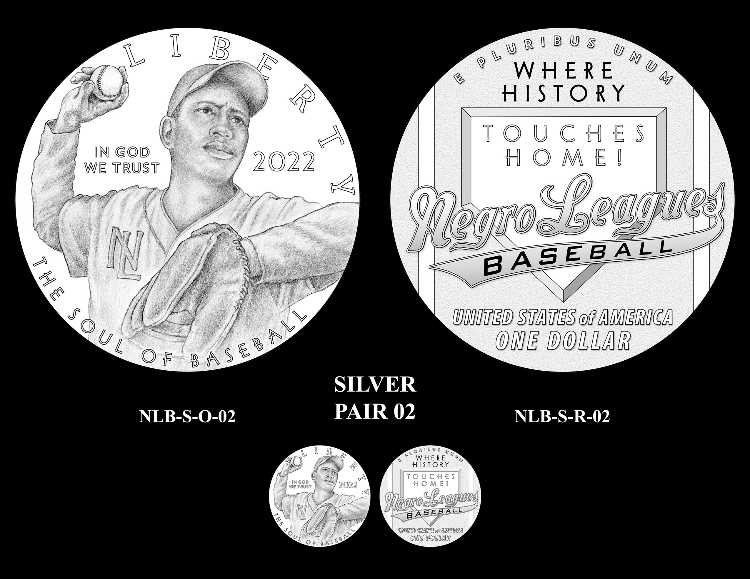 Silver Pair 02 -- Negro Leagues Baseball Commemorative Coin Program