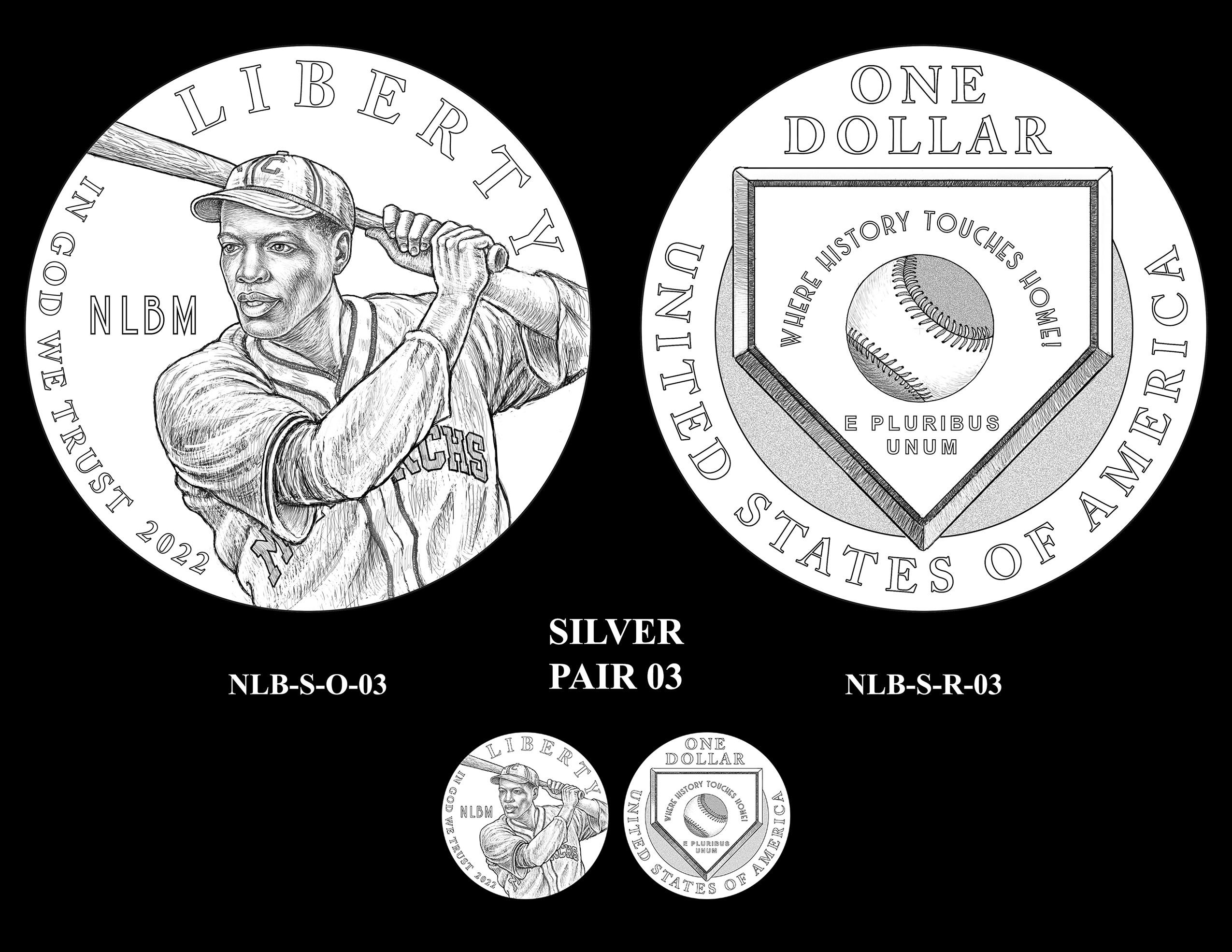 Silver Pair 03 -- Negro Leagues Baseball Commemorative Coin Program