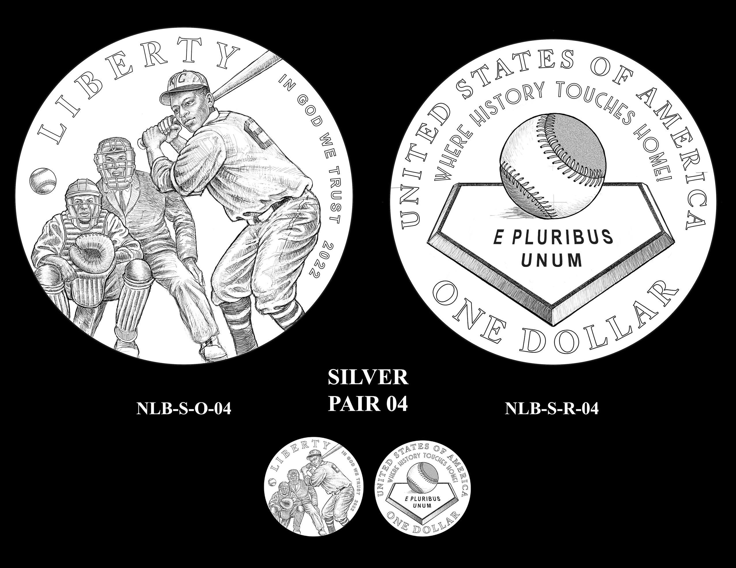 Silver Pair 04 -- Negro Leagues Baseball Commemorative Coin Program