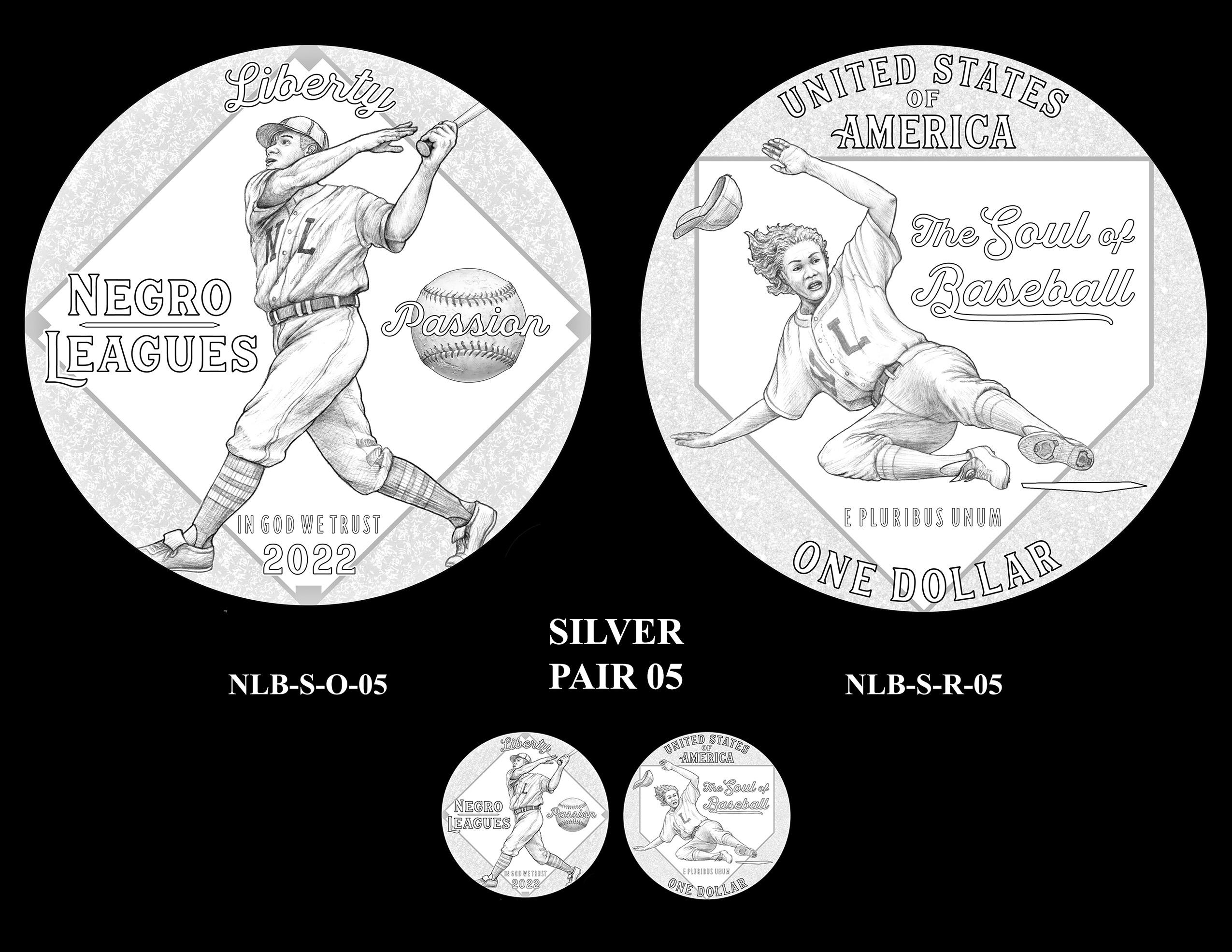 Silver Pair 05 -- Negro Leagues Baseball Commemorative Coin Program