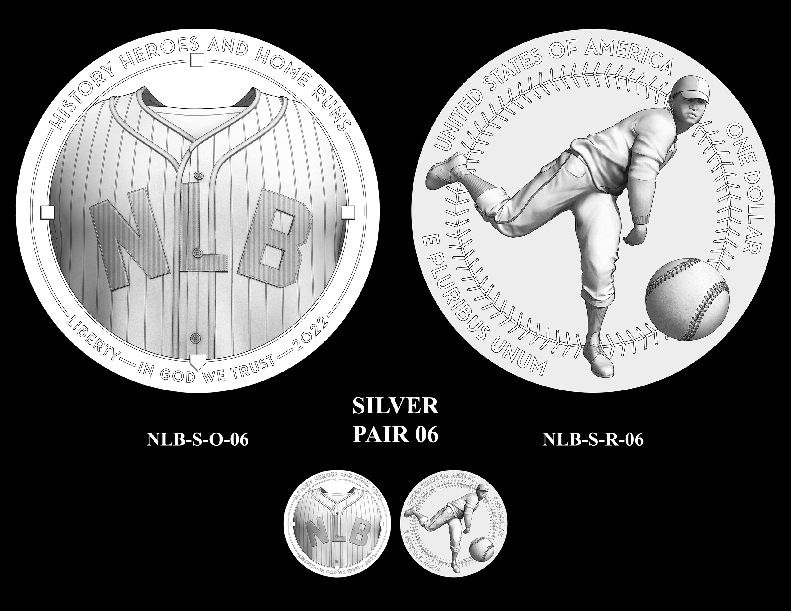 Silver Pair 06 -- Negro Leagues Baseball Commemorative Coin Program