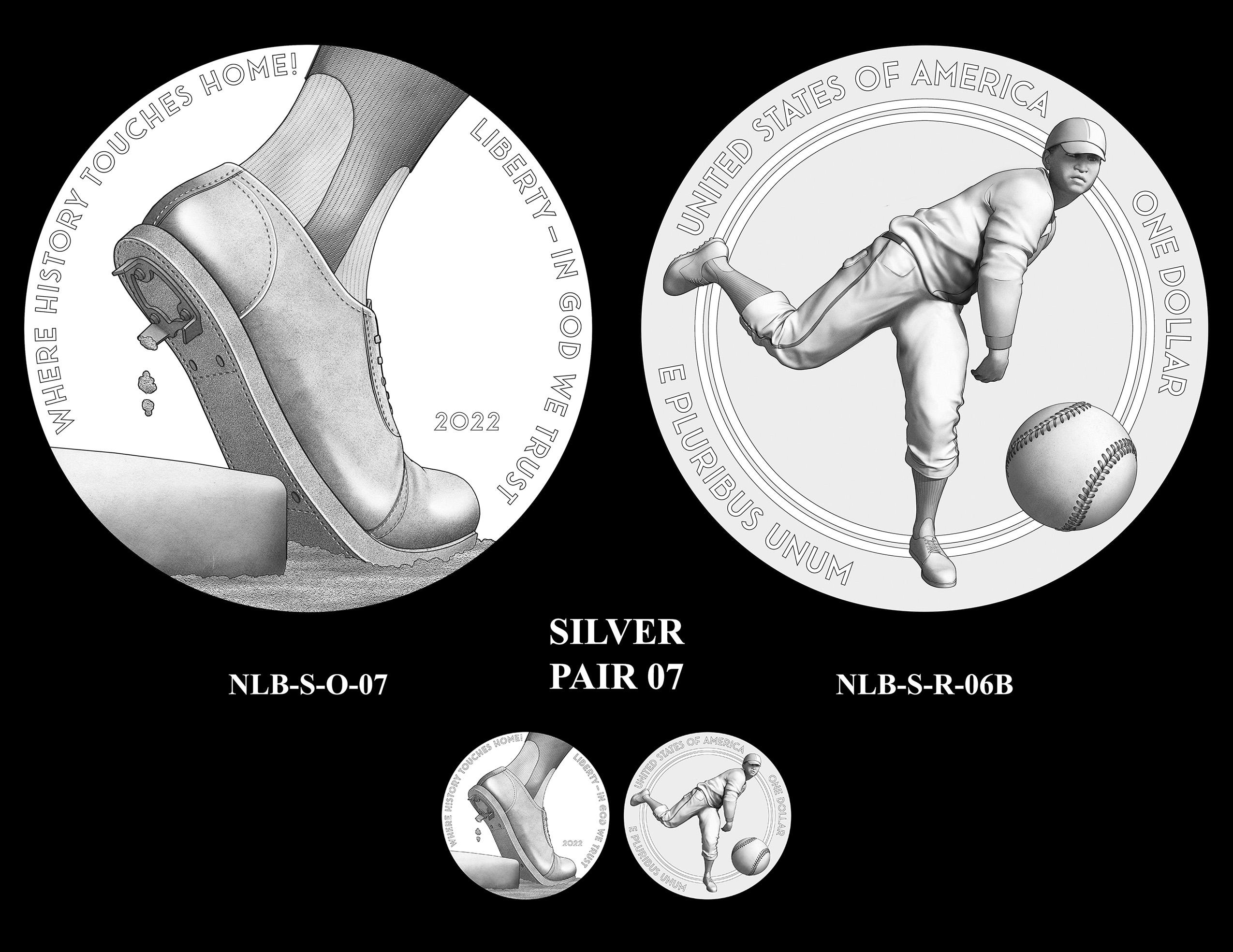 Silver Pair 07 -- Negro Leagues Baseball Commemorative Coin Program