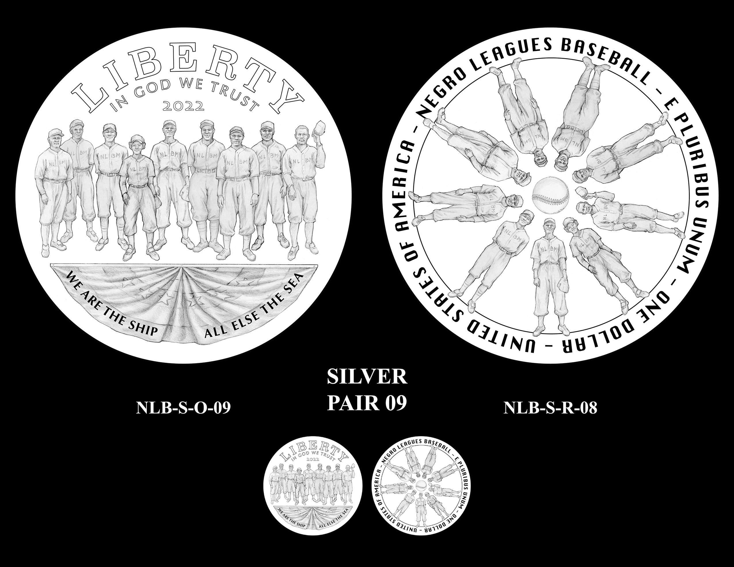 Silver Pair 09 -- Negro Leagues Baseball Commemorative Coin Program