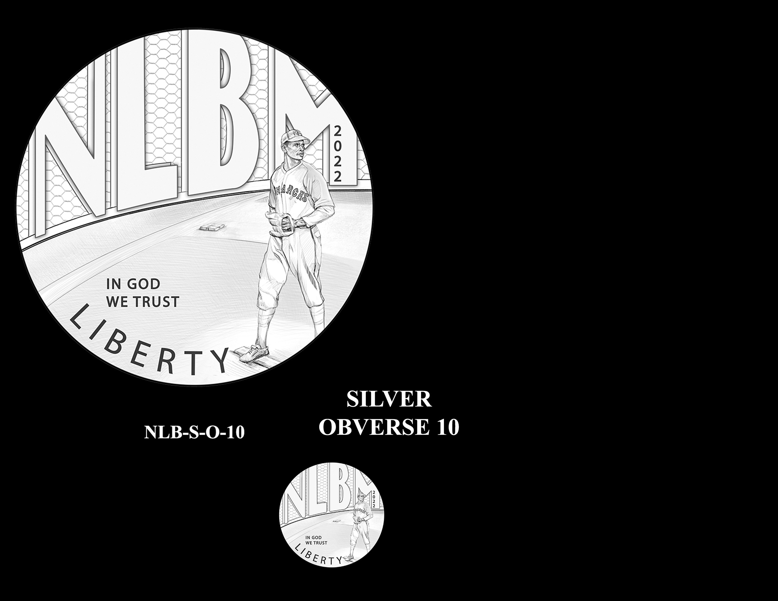 Silver Pair 10 -- Negro Leagues Baseball Commemorative Coin Program