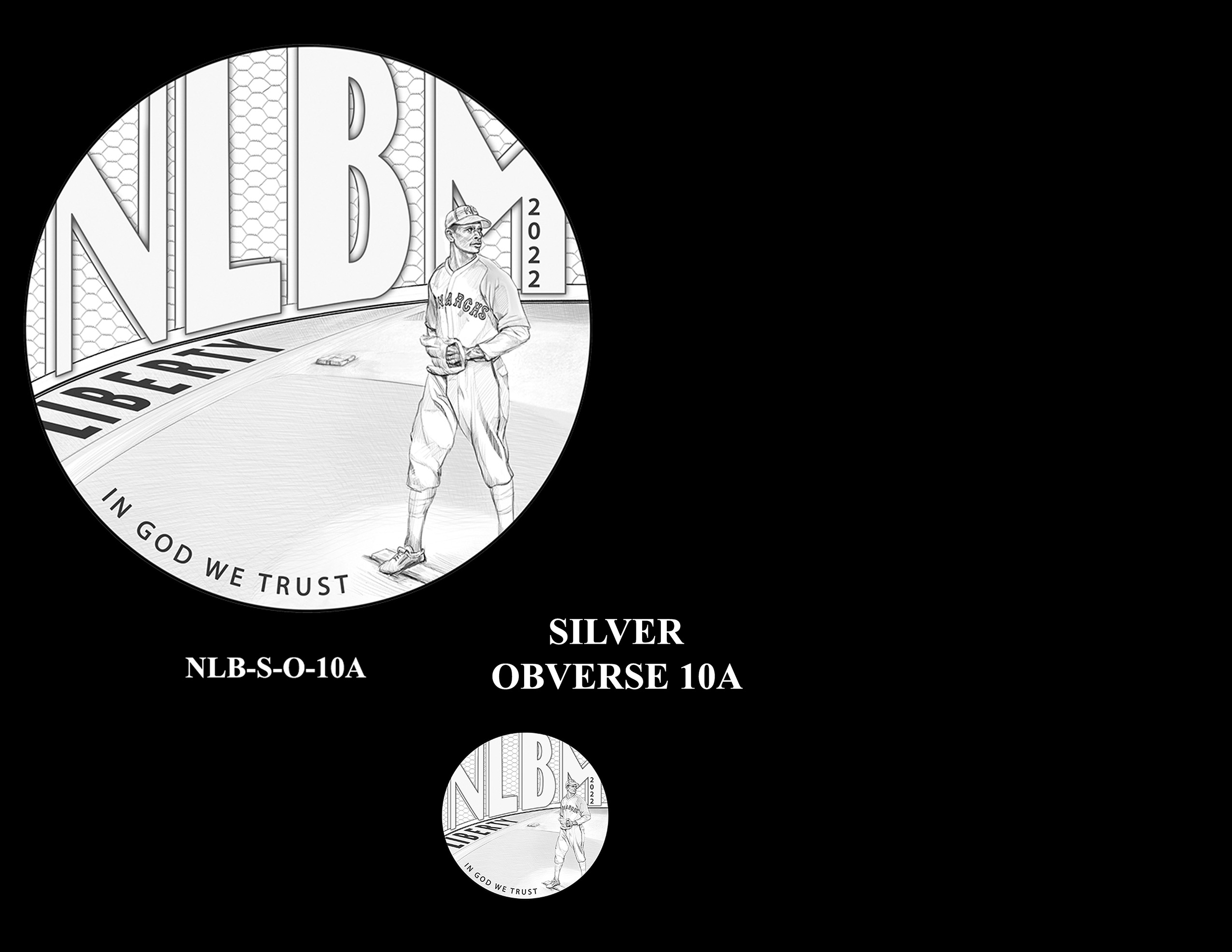 Silver Pair 10A -- Negro Leagues Baseball Commemorative Coin Program