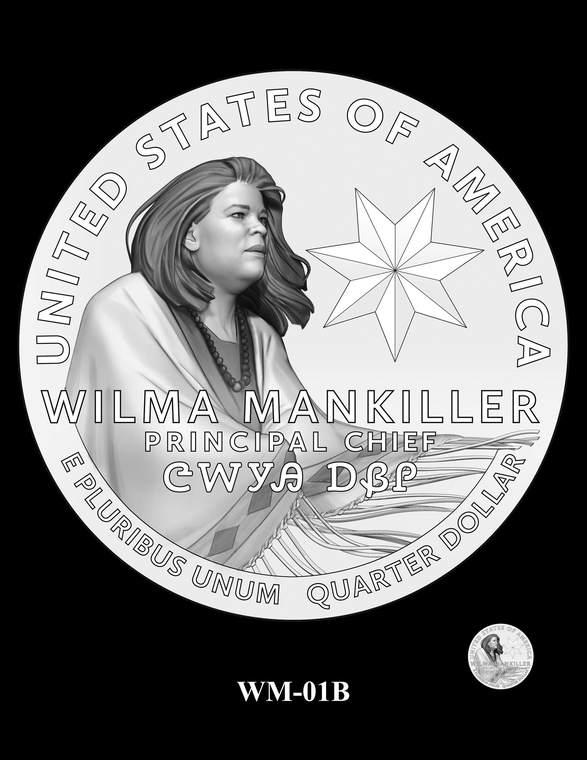 WM-01B -- 2022 American Women Quarters - Wilma Mankiller