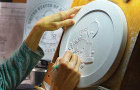 U.S. Mint medallic artist sculpts a coin model