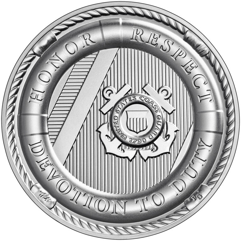 Armed Forces Silver Medal U.S. Coast Guard Reverse