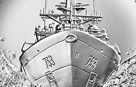 close up of U.S. Coast Guard Silver Medal obverse