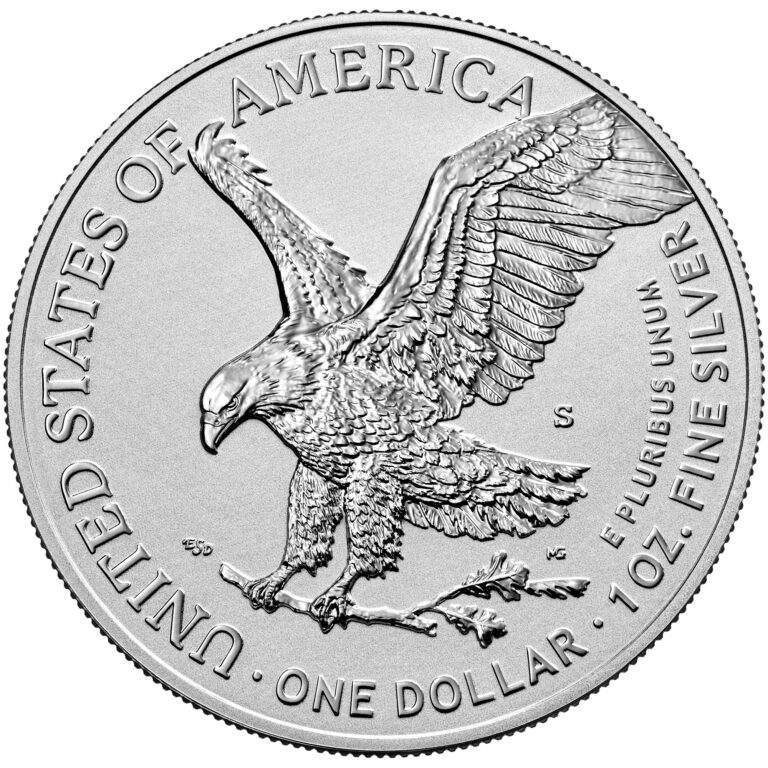 2021 American Eagle Silver One Ounce Reverse Proof Coin Reverse New Design