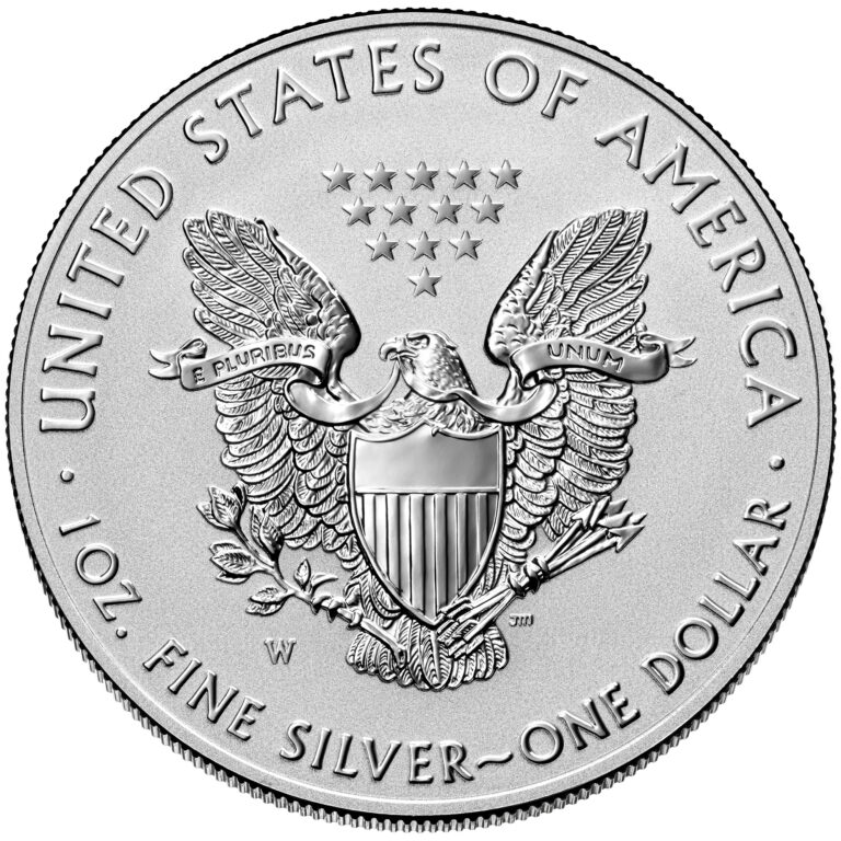 2021 American Eagle Silver One Ounce Reverse Proof Coin Reverse Old Design