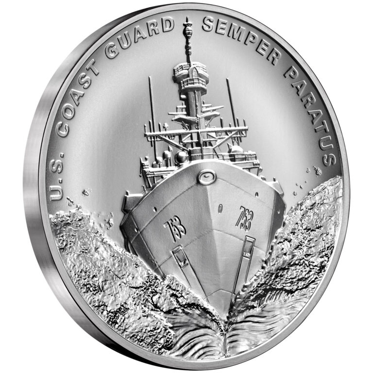 Armed Forces Silver Medal U.S. Coast Guard Obverse Angle