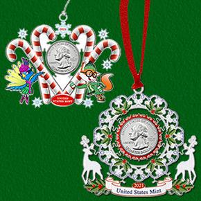 U.S. Mint holiday ornaments